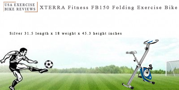 XTERRA Fitness FB150 Folding Exercise Bike, Silver, 31.5L x 18W x 45.3H in.- USA Exercise Bike Reviews